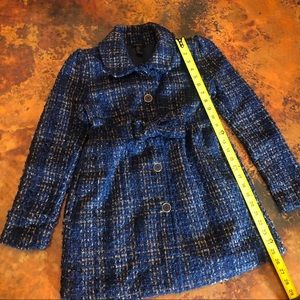 Girls Blue and Gold Tweed Jacket